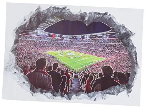 Unbekannt Wandtattoo 3D Bayern München kompatibel FCB + Aufkleber, Munich, Wall Tattoo, Wandbild