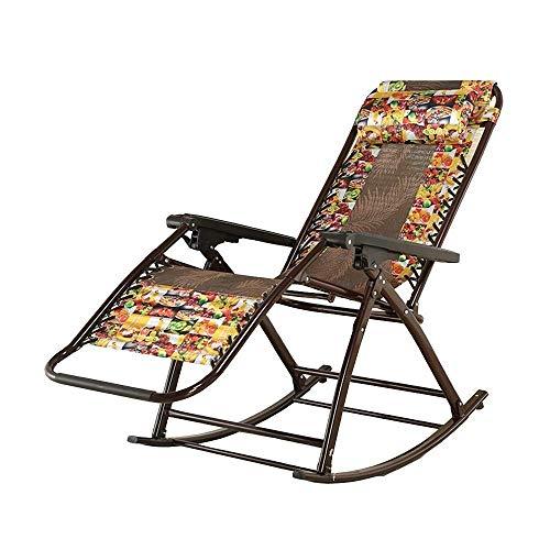 Schwerelosigkeitsstuhl Schaukelstuhl Fixable Relax Schaukelstuhl aus Aluminium Verstellbarer faltbarer Liegestuhl für den Außenbereich, Terrasse, Poolgarten Außenterrasse Sonnenliegen | Klappstühle |