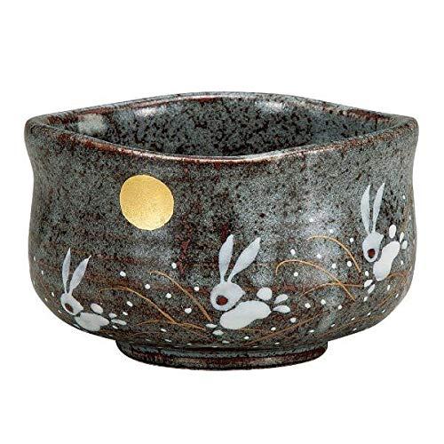 Kutani Pottery Matcha Schale aus japanischem Grüntee, hergestellt in Japan Kaninchen unter dem Mond K4-822, K5-783