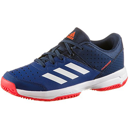 adidas Court Stabil Jr, Chaussures de Handball Garçon Mixte Enfant, Multicolore (Tinmis/Ftwbla/Azuosc 000), 32 EU