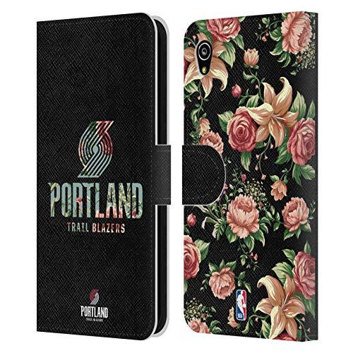 Officiële NBA Bloemen 2019/20 Portland Trail Blazers Lederen Book Portemonnee Cover Compatibel voor Sony Xperia M4 Aqua