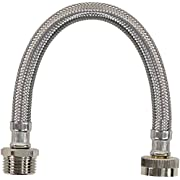 Certified Appliance Accessories WI12SSFM Water Inlet Hose, 1 Foot, Premium Braided Stainless Steel