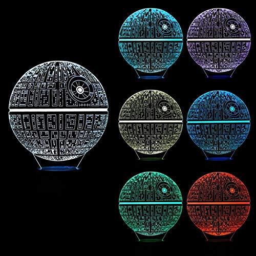 Luz Nocturna 3Ddeath Star-Star Wars Death Star Model Día De Los Niños Regalo De Cumpleaños