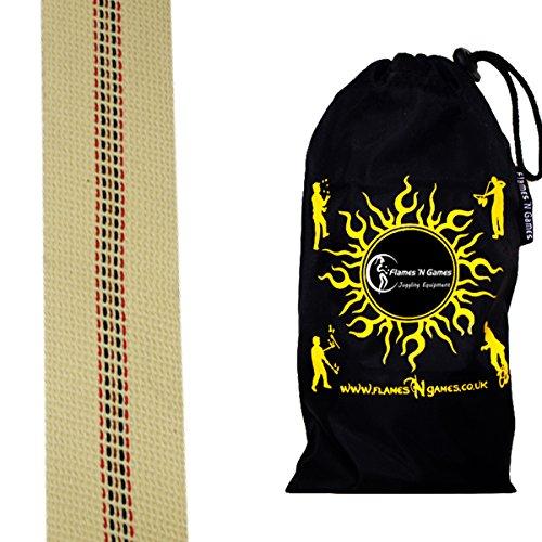 1m Länge Para-Aramid FEUER DOCHT (50mm) + Tasche. Perfekte Menge An Material für alle Feuer-Tanzen, Feuer-Spinnen und Feuer-Jonglier-Ausrüstung. Lange Brenn Zeiten und Gute Kraftstoffabsorption (50mm)