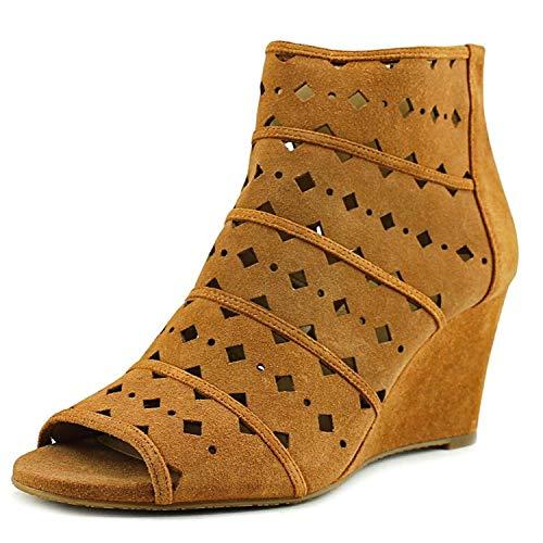 Michael Michael Kors Uma Wedge Women US 8.5 Brown Wedge Sandal, Acorn, Size 8.5
