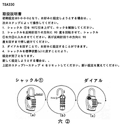 Wexbin旅行用TSAトラベルロックスーツケース荷物のセキュリティ4桁の組み合わせ番号式2個セット(パープル&グリーン)