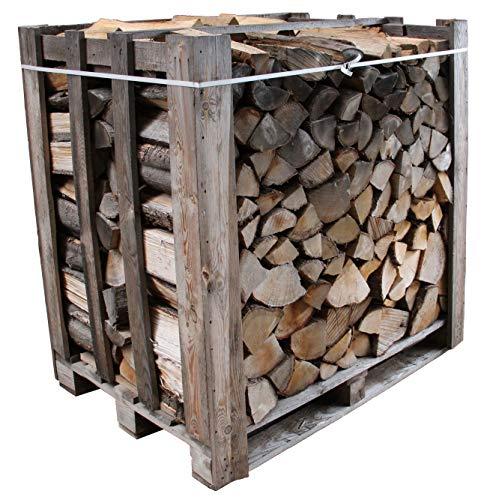 550 kg Brennholz Kaminholz Eiche auf 1 Raummeter Palette, Eichenholz geschichtet und gespalten, ofenfertiges Feuerholz kammergetrocknet mit geringer Restfeuchte (15-20{f48159db37168a815be76a65bbd72759f26058404d337b6f574df49b630ae1af}), ca. 33 cm Holzscheit Länge