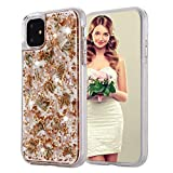 iPhone 8 Plus Case, Inkomo Women Luxury Fashion Glitter Shells Foil Sparkle Hard Back Cover with Clear TPU Bumper Protective Phone Bling Case for iPhone 8 Plus / 7 Plus / 6s Plus 5.5'' (Rose Gold)