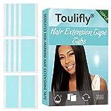 Cinta de Extensión de Pelo,Cintas Adhesivas de Extensiones,Hair Extensions Tape,Doble Cara Invisible Replacement Tape para Extensión de Cabello,Adhesivo Extra Strong,4 x 0.8 cm,120 Pieza