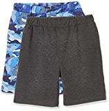 Kid Nation Kids Unisex 2 Packs Casual Shorts for Boys and Girls XL Blue...