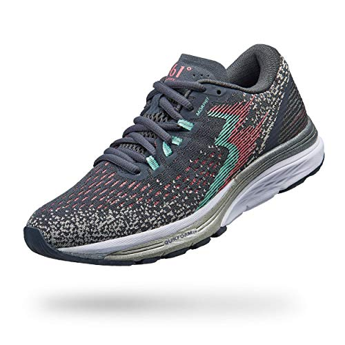 361 Degrees Women's Spire 4 High Performance Neutral Everyday Training Lightweight Running Shoe, Ebony/Glass, 7 M US