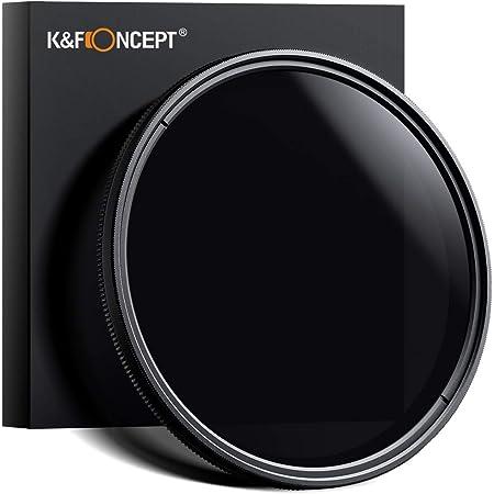 NDフィルター 77mm、K&F Concept 77mm 可変式NDフィルター 減光フィルター 減光範囲ND2~ND400 超薄型 カメラ用フィルター Canon 6D 5D Mark II 5D Mark III Nikon D610 D700 D800デジタル一眼レフカメラ専用+クリーニングクロス