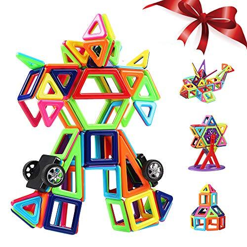 Innoo Tech Costruzioni Magnetiche Blocchi 108 Pezzi Giocattoli Educativi Kit Accatastamento Aggiornati per I Bambini Lasciate Che Il Vostro Bambino Imparare Colori e Forme Attraverso (108 Pezzi)