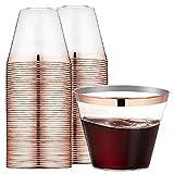Landyta 100 Piezas reutilizables vasos de plástico desechables Vasos de plástico Duro Transparente para Celebraciones fiestas de Boda
