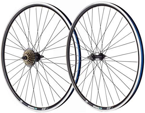 wheelsON 700c Front Rear Wheel Set Mountain Bike/Hybrid + 7 Speed Freewheel 36H Black