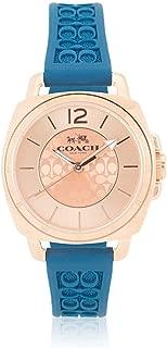 Coach Women's 14502095 Mini Boyfriend Signature Blue Strap Rose Gold Tone Watch