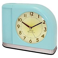 Westclox 1950 Big Ben Moonbeam Aqua Blue Alarm Clock