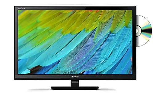 Sharp LC-24DHF4011K 24 Inch HD Ready TV with Freeview and DVD, 2 x HDMI, 1 x USB, 1 x SCART, Black