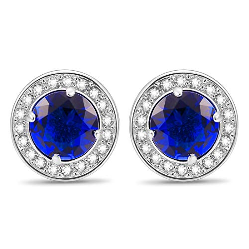 Cat Eye Jewels Men Cufflinks Cubic Zirconia Crystal Round for Luxurious Tuxedo Formal Shirts Wedding Business Gift for Mens Groom C016