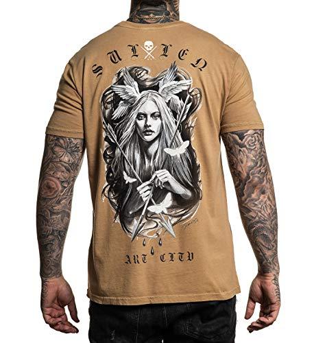 Sullen Men's Angels Short Sleeve T Shirt Sand Brown XL