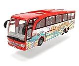 Dickie Toys Touring Bus, Reisebus, Spielzeugbus mit Friktion, Türen zum Öffnen, Maßstab: 1:43,  2 verschiedene Ausführungen, rot oder blau, 30 cm, ab 3 Jahren