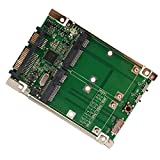 SYBA 2.5' Hard Drive Laptop Form Factor SATA III 6G or USB 3.0 to Dual mSATA RAID Adapter Enclosure