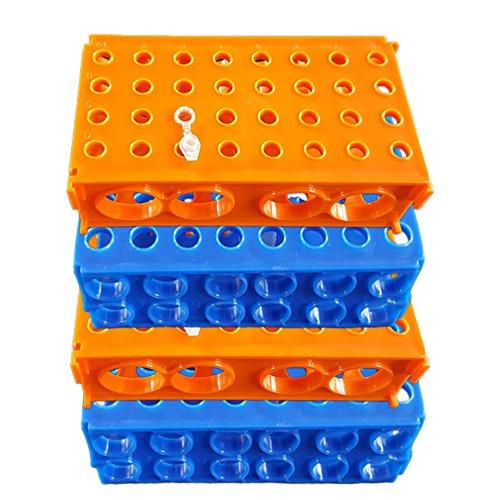 Eagles Plastique Support Tube à essai - Paquet de 4, Multi-Size 4-Way Centrifuge Tube Rack for Different Sizes of Tubes,80 Wells