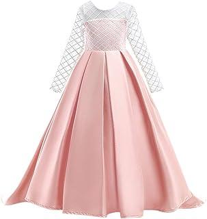 Zhhlinyuan Primavera Otoño Disfraces de Halloween Fiesta Vestido de Princesa Vestido Cosplay Vestido para Chicas Edad 3-8, Algodón
