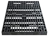 24 Inch x 36 Inch Heavy Duty Fountain Basin Grate - for Pond and Water Garden Features and More - Hides Reservoirs - Holds Bubblers, Rocks, Other Decorations - Will Not Rust - Black - Can Be Cut