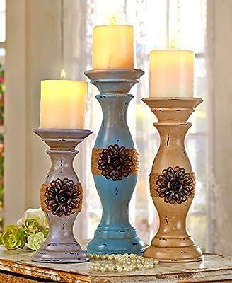 Set of 3 Vintage Inspired Candleholder Set by GetSet2Save from GetSet2Save