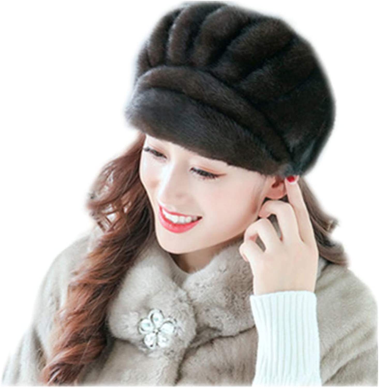 MH Bailment Mink Fur Women's Tgoldnto Hat Warm Cap Whole Mink Fur
