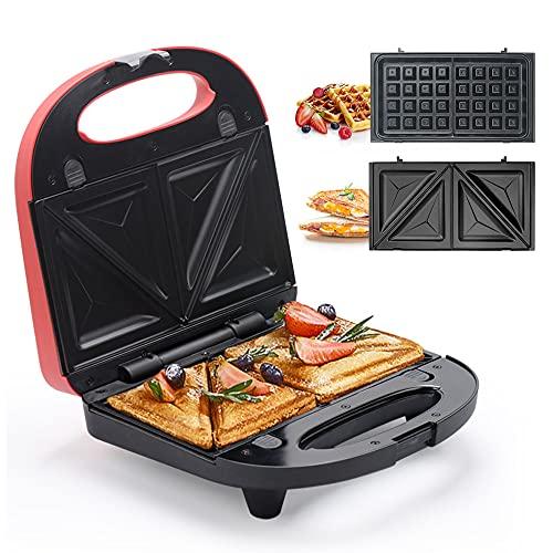 Sandwich Maker, Waffle Iron, Multifun 2-in-1 Waffle