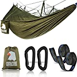 Covacure Camping Hammock Lightweight Portable Double Parachute Hammocks, Mosquito Nylon Hammock for Indoor,Outdoor, Hiking, Camping, Backpacking, Travel, Backyard, Beach