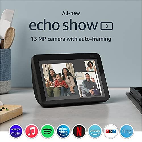 All-new Echo Show 8 (2nd Gen, 2021 release)   HD smart display...