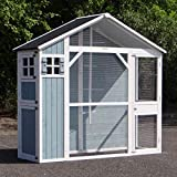 Animalhouseshop.de Voliere Amalia White-Blue 194x70x182cm