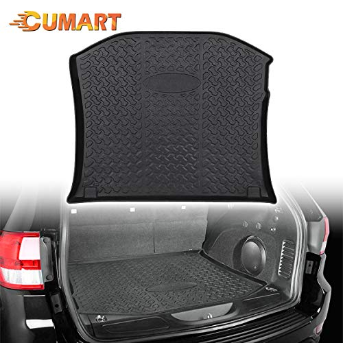 CUMART Trunk Cargo Mat Liner Waterproof Rear Tray Compatible with Mazda CX-5 CX5 2017 2018 2019 2020 Custom Fit Black