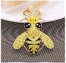 Sleutel Hanger Met Diamant Ingelegde Legering Autotas Ornamenten Kleine Geschenken geel