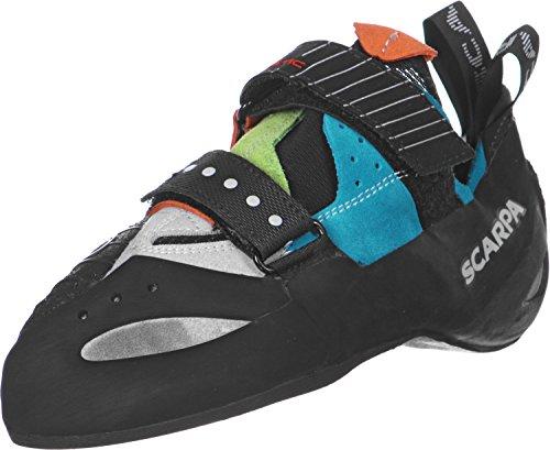 Scarpa Boostic Blau-Schwarz, Kletterschuh, Größe EU 38 - Farbe Parrot