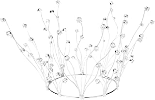 WZHZJ Headwear-Full Round Crystal Crown Rhinestone Bridal Tiara Princess Headpieces Party Hair Accessories
