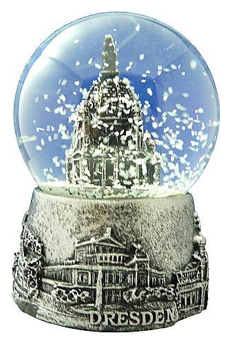 Schneekugel Dresden Frauenkirche silber