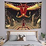 onetoze Phoenix Wandteppich Wandbehang Wandtuch Tapisserie Wanddeko Wandkunst Dekoration für Schlafzimmer Wohnzimmer Wohnheim Zimmer Tagesdecke, 130x150cm