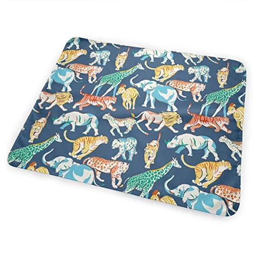 Voxpkrs Diaper Changing Pad Diaper Change Mat Watercolor Tiger Lion Zebra Animals 25.5 x 31.5 inches