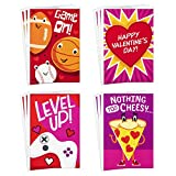 Hallmark Assorted Valentines Day Cards for Kids, 12 Cards with Envelopes (Sports, Pizza, Video Games)