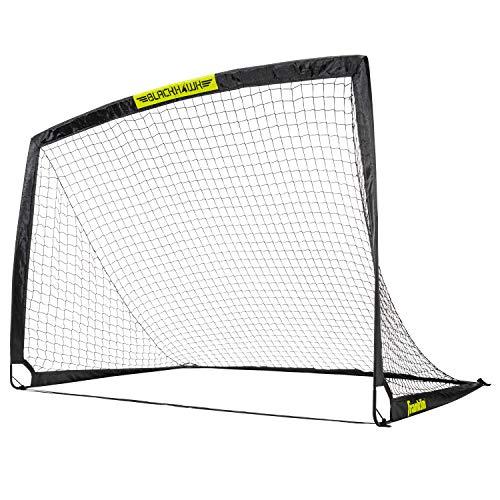 Franklin Sports Portable Soccer Goal - Blackhawk Pop-Up Folding Soccer Net - Indoor and Outdoor Soccer Goal - Easy Storage - 6' X 4' Soccer Goal
