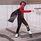 ZGCP Costume Halloween Enfants Spiderman Vêtements Ultraman Batman Vêtements Noir 120 mètres