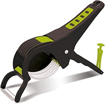 DeoDap Plastic Vegetable Cutter, Slicer and Peeler with Smart Locking System