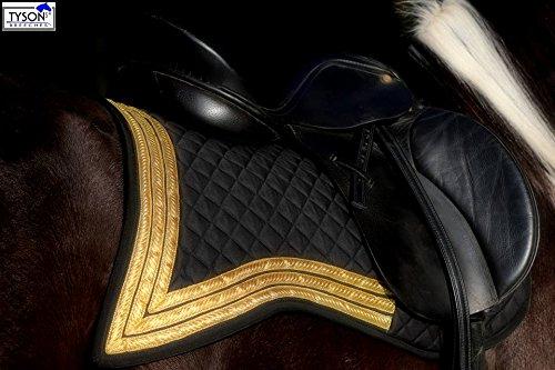Tysons Breeches Antik Schabracke Angel ORO Schwarz Gold - Farben Dressur Schwalbenschwanz Spanisch