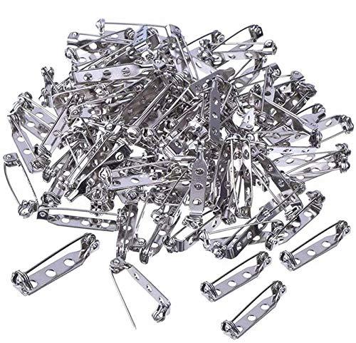 Limeow Imperdibles Broches Pines Pines de Seguridad Alfileres Metal de Seguridad Alfileres Metal para Manualidades para Etiquetas de Nombre de Insignia y Fabricación de Joyas 100 Piezas