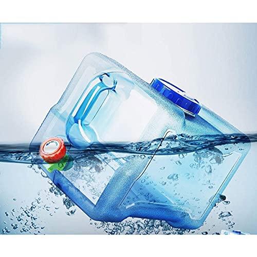 WOCAO Bidones Agua Bidón De Agua Tanque De Acampar Depósito del Envase del Agua Potable con Grifo Envase Agua Que Acampa para Escritorio, Plástico, Ideal para Oficina, Camping, Zumo