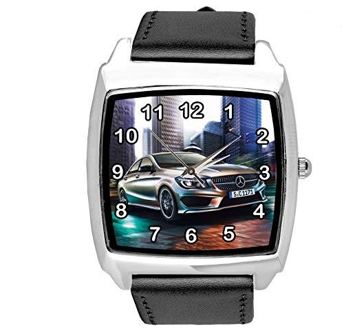 Reloj de cuarzo para aficionados de los coches, E2, color negro